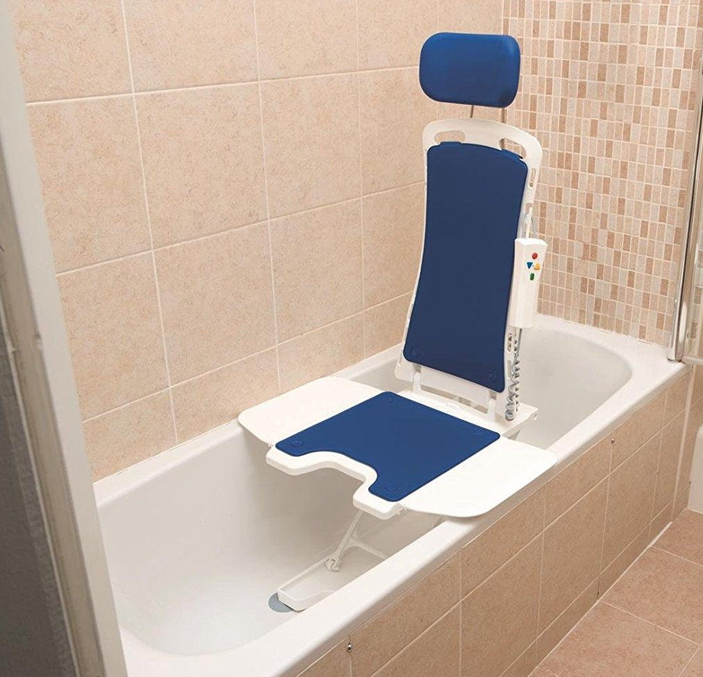 Drive DeVilbiss Healthcare Bellavita Lightweight Reclining Bath Lift with White Covers