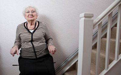 Helping elderly with stairs