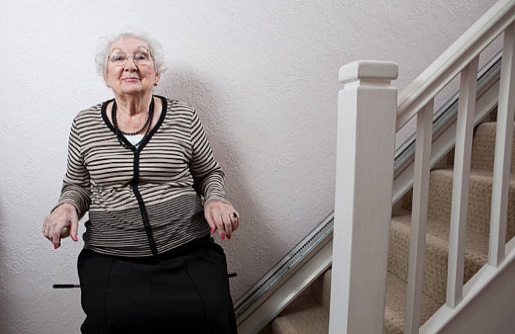Helping the elderly with stairs