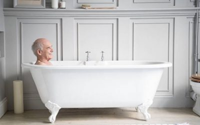 How often should an elderly person bathe?