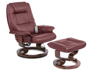 Napoli massage chair with foot stool